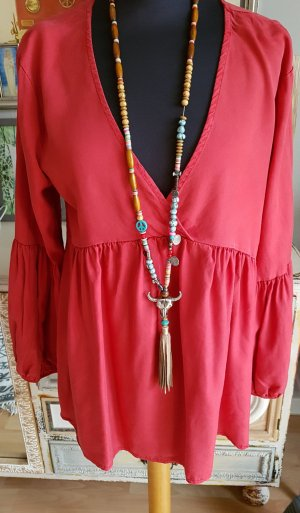 Made in Italy Slip-over Blouse red