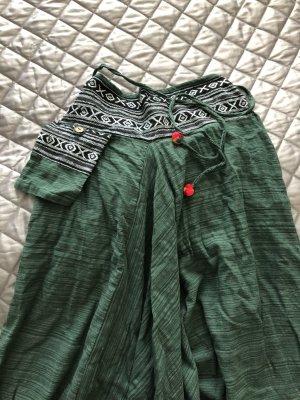 Pantalón estilo Harem gris verdoso-verde oscuro