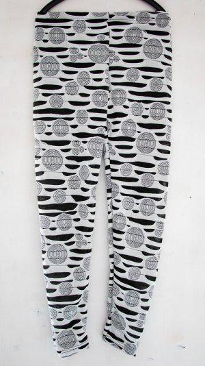 Leggings blanco-negro Poliéster
