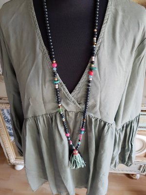 Made in Italy Tunic Blouse olive green-khaki