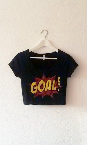 GOAL! Croptop bauchfreies T-Shirts M Fußball
