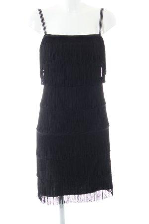Goddess Robe à franges noir élégant