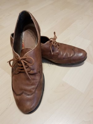 GÖRTZ 17 Damen Schnürschuhe Halbschuhe Leder Braun Gr.38