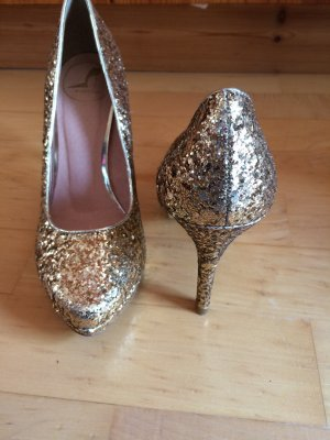 Görtz 17 Pumps Gold Glitzer 38