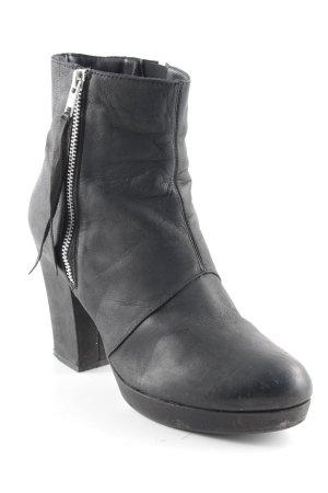 Görtz 17 Reißverschluss-Stiefeletten schwarz-silberfarben Casual-Look