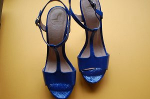 Görtz 17 Platform High-Heeled Sandal blue leather