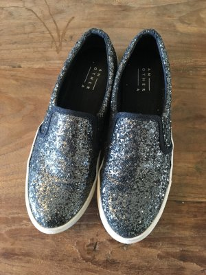 Görtz Another A Slip Ons Sneakers Glitter silber metallic 39
