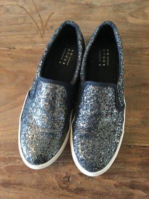 Görtz Another A Slip Ons Sneakers Glitter silber metallic 39