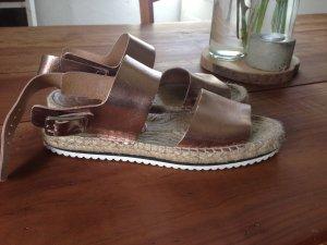 Görtz echt Leder metallic Sandaletten