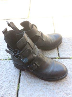 GÖRTZ Echtleder Stiefeletten Cut Out Boots Leder Stiefel 40
