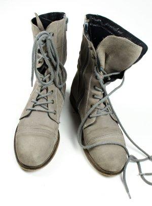 Görtz Goertz Shoes Echtleder Nubuk Schnürstiefel beige, Gr. 39