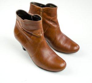 Görtz Zipper Booties russet leather