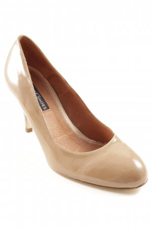 Görtz Escarpins Mary Jane marron clair-beige style d'affaires