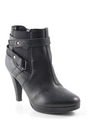 Görtz Schlüpf-Stiefeletten schwarz schlichter Stil