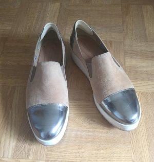 Görtz Schuhe gr. 39 nude Silber Wildleder Blogger