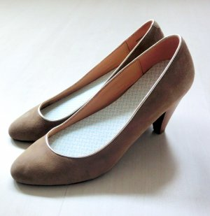 Goertz Shoe High Heels Pumps Gold Taupe Braun Leder