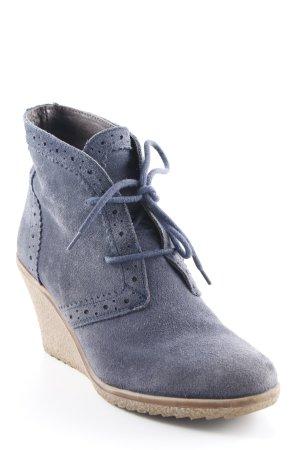 Görtz Shoes Plateau-Stiefeletten graublau klassischer Stil