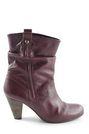 Görtz Shoes Reißverschluss-Stiefeletten rot Casual-Look