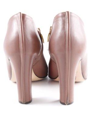 Görtz Shoes Reißverschluss-Stiefeletten braun-goldfarben Business-Look
