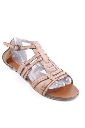 Görtz Shoes Riemchen-Sandalen hellbraun Casual-Look