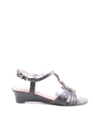 Görtz Shoes Riemchen-Sandaletten schwarz Casual-Look