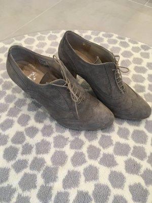 Görtz Stiefeletten grau Wildleder 38 Hohe Schuhe