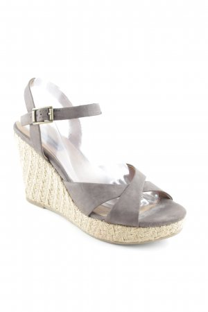 Görtz Wedge Sandals beige-dark brown beach look