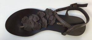 Görtz Shoes Sandalias con talón descubierto marrón-negro Cuero