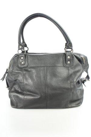 Görtz17 Handtasche schwarz-silberfarben Casual-Look