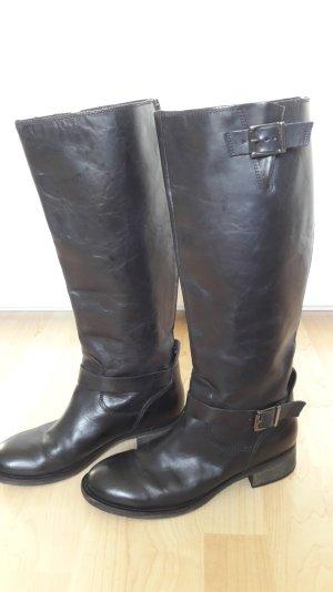 Görtz17 Schicke schwarze Leder Stiefel Reiterstiefel Gr. 37