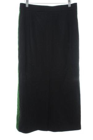 gössl Wollen rok zwart gestreept patroon casual uitstraling