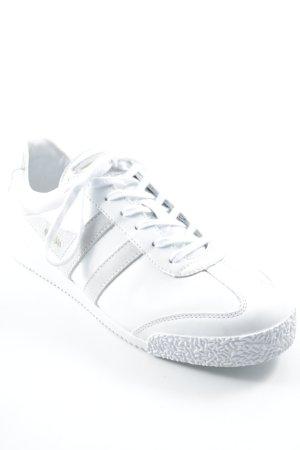 Gola Schnürsneaker weiß-hellbeige Streifenmuster sportlicher Stil