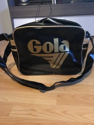 Gola Bolso estilo universitario negro-color oro