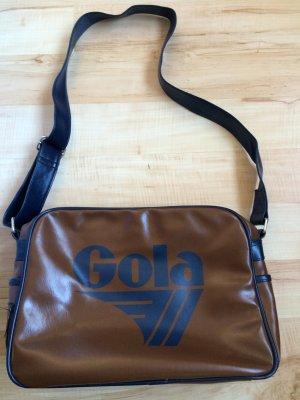 Gola Borsa college blu scuro-marrone