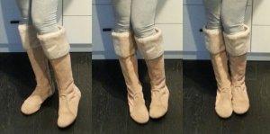 Gola Wildleder Fell Boots Stiefel beige nude zara mango 38