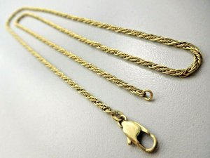 Vintage Silver Chain gold-colored real silver