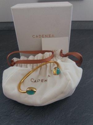 Cadenzza Bangle goud-turkoois