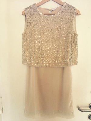 Gold/Beiges Paillettenkleid von Vero Moda (Gr. M)