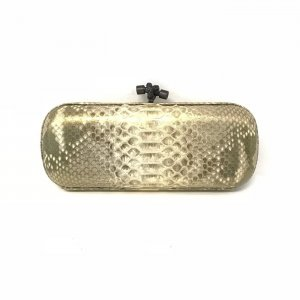Gold Bottega Veneta Clutch