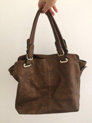 gold/braune Handtasche