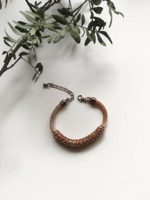 Gold/ Braunes Armband