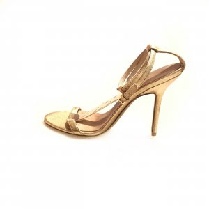 Burberry High-Heeled Sandals gold-colored