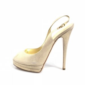 Gold Casadei Evening Shoe