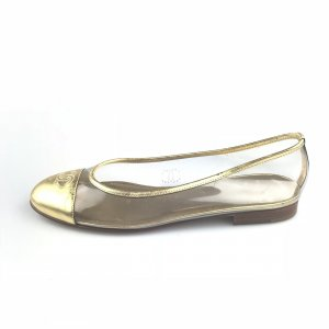 Gold Chanel Flat