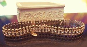 Gold Choker, Colliers, Perlen, silber Straßsteine, Blogger, Zara, Neu