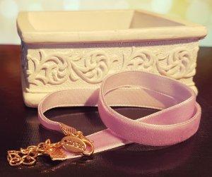 Gold Choker, Velvet, Stoff, Colliers, lila, Zara, Blogger, Neu