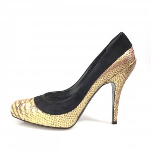 Christian Dior High-Heeled Sandals gold-colored