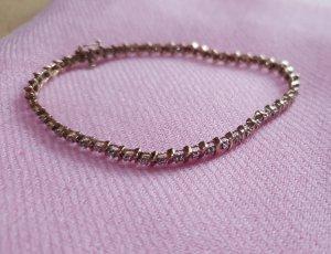 Gold Damen-Armband 9ct Yellow Diamond  Bracelet 18cm/7 375 Gelbgold Diamant (0.2 ct) transparent Rundschliff