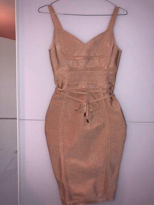 100% Fashion Midi Dress gold-colored