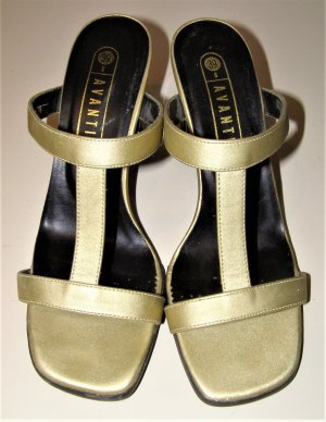 Avanti Strapped Sandals gold-colored synthetic material